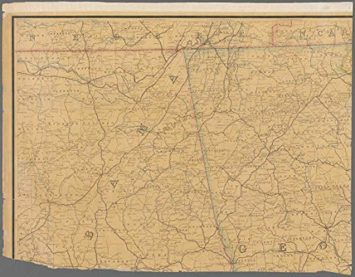 Reprinted 18 x 24 1880 Map of Washington, D.C. Portion of Long Branch Village Post Office Department 0 0 20a by Vintography