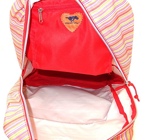 Multi School Work Zipped ROCKETDOG Rucksack Girl's Flower Student Laurel Daisy Compartment Backpack qnTpY