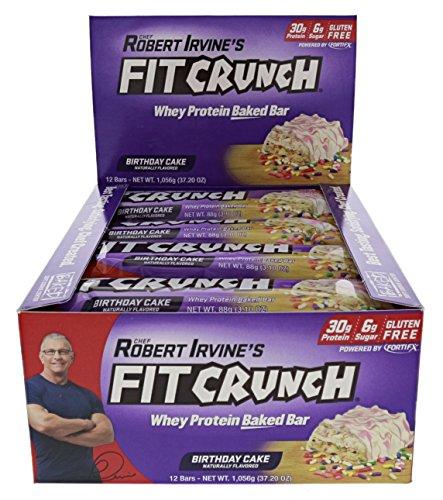Fit Crunch Bars Birthday Cake 12 88g Each