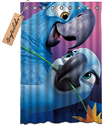 [iPrint Brand Blue Parrot Bathroom Mildew-Resistant Antibacterial Waterproof Polyester Fabric Shower Curtain] (Parrot Costume Ebay)