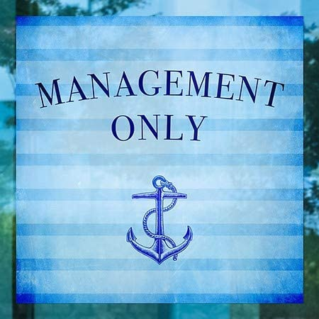 Nautical Stripes Window Cling CGSignLab 5-Pack Management Only 24x24