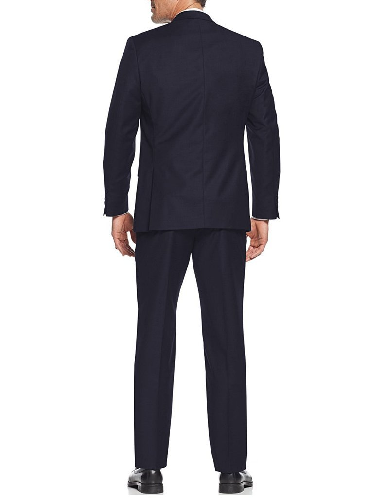 Caravelli Men's 60503 3-Piece Single Breasted Slim Fit Vested Suit. Navy - 42L by Caravelli (Image #2)