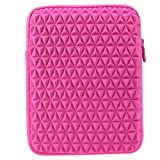 Evecase 9.7'' ~ 10.1'' iPad Pro 9.7 / iPad Air / Tablet PC Superior Protection Slim Vertical Neoprene Protective Sleeve Case Cover Pouch with Zipper & Impact textured Cushion - Hot Pink