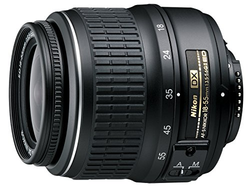 Nikon AF-S DX NIKKOR 18-55mm f/3.5-5.6G ED II Zoom Lens with Auto Focus for Nikon DSLR Cameras (Renewed)