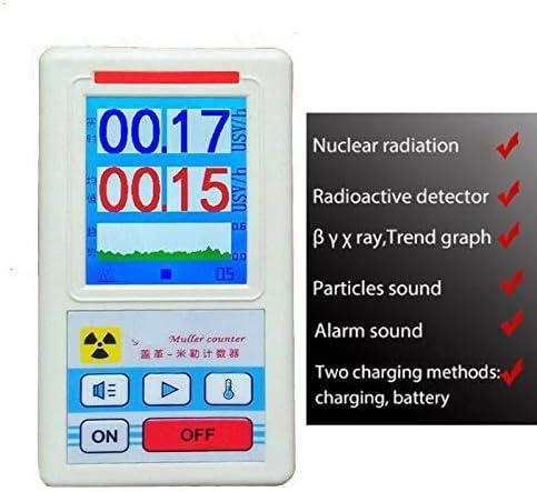 Personal Dosimeter Marble Detector Meter Portable Dosimeter Radioactive Detector Beta Gamma X-ray Tester Geiger Counter Nuclear Radiation Detector
