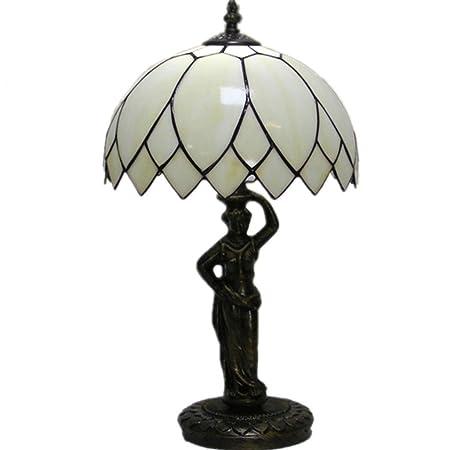 LZQTD Lámparas de Mesa Estilo Tiffany, Retro Chic Lámpara de ...