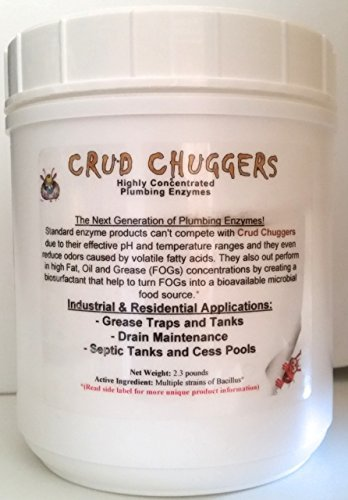 Crud Chuggers 2.3lb Jar Grease Trap & Drain Enzyme Treatment by Crud Chuggers Enzymes by Crud Chuggers Enzymes