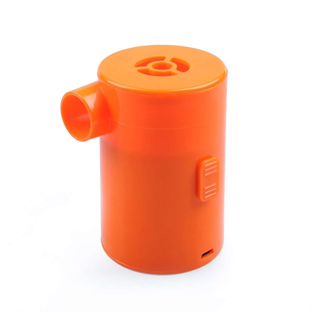 LC Prime Mini Electric Air Pump, Portable 2 in 1 Inflator Deflator USB Rechargeable Pump Quick Inflate Deflate for Airbeds Mattresses Paddling Swimming Pools Toys Plastic Orange