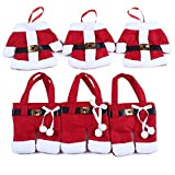 Kitchen & Housewares : Holders Knife and Fork Bags Table Decoration ,Traditional Red and White Santa Suit Christmas Silverware Holder,3 sets,6 pcs
