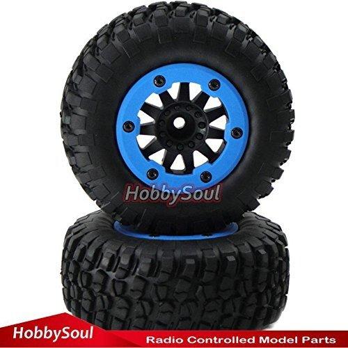 4pcs RC 2.2//3.0 Short Course Tires Wheels For 1//10 Traxxas Slash 4x4 Rally Car