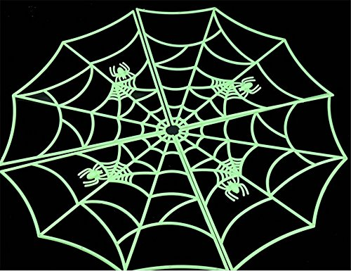 KTV Halloween Props Scene Layout Strange Luminous Cobweb]()