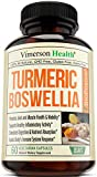 Turmeric Curcumin with BioPerine, Boswellia and Ginger. Advanced Turmeric Combination. Promotes Healthy Cartilage Function. Vegan, Gluten-Free, Non-GMO, Natural. 60 Vegetarian Capsules.