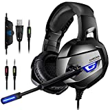 ONIKUMA K5-N Gaming Headset - Headset Gaming Headphone for PS4, Xbox One