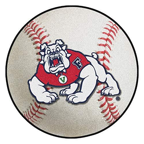 Fresno State Baseball Rug - FANMATS NCAA Fresno State Bulldogs Nylon Face Baseball Rug