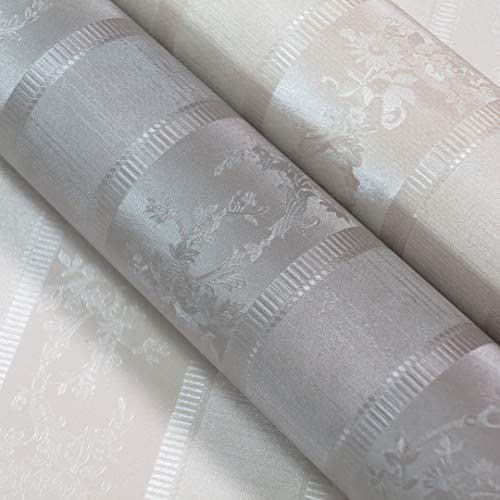 Double Roll Off White Wallpaper for Walls by Romosa Wallcoverings BB7308 Embroidered Textures