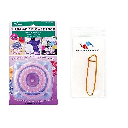 Clover Hana-Ami Flower Loom with 1 Artsiga Crafts Stitch Holder 3146 by