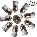 Eleidgs 10 PCS E27 to B22 E26 Light Socket Adapter Converter Base, Fits LED/CFL Light Bulbs, Heat-resistant, Anti-burning, No Fire Hazard