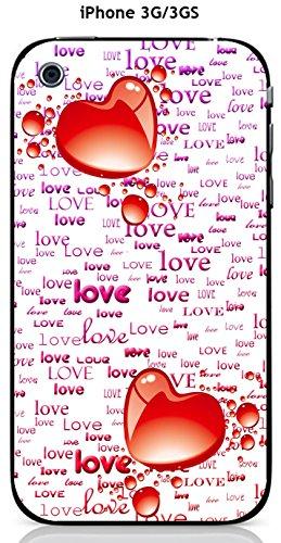 Cover Apple iPhone 3G/3GS Design 2cuori, Love Malva