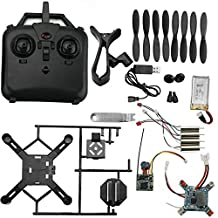Jrelecs DM002 DIY 2.4GHz FPV Mini Quadcopter Drone Modular Drone Kit 6-Axis Gyro Auto Come Back Drone with Camera Not Assembled Black