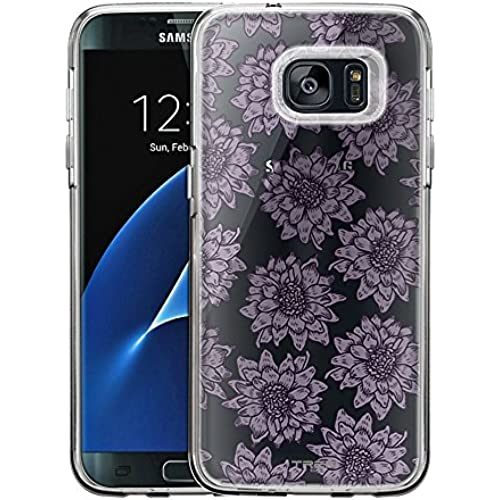 Samsung Galaxy S7 Edge Case, Slim Fit Snap On Cover by Trek Lavender Sunflowers Clear Case Sales