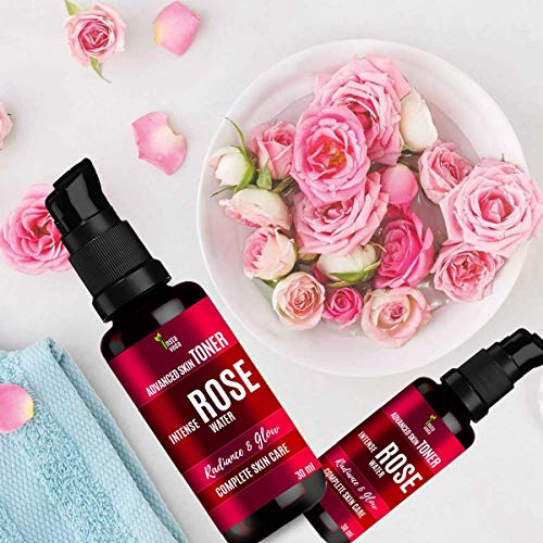 Insta Veda Organic Gulab Jal | Rose Water Skin Toner For Glow (Pack of 2) | Chemical & Paraben Free Rose Water Skin Toner For Face and Skin – 30 ml