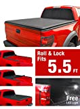 #7: MaxMate Roll Up Truck Bed Tonneau Cover works with 2007-2013 Toyota Tundra | Fleetside 5.5' Bed | For models with or without the Deckrail System