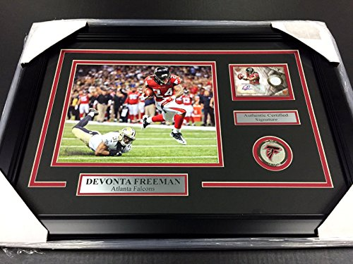 DEVONTA FREEMAN ATLANTA FALCONS AUTOGRAPHED CARD WITH 8X10 PHOTO (Freeman Autographed Baseball)