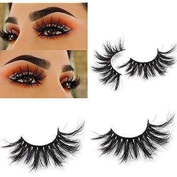 989da15f413 Miss Kiss 25mm Lashes 5D Mink Hair High Volume Thick Dramatic Style Long  Length False Eyelashes