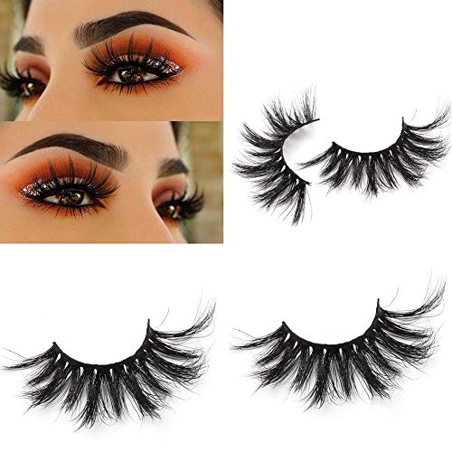 Miss Kiss 25mm Lashes 5D Mink Hair High Volume Thick Dramatic Style Long Length False Eyelashes Cruelty-free and Reusable Eye lashes Strip(5D01)