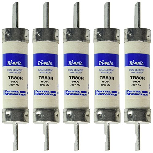 (Mersen TR80R 250V 80A 5 7/8X1 1/16 Rk5 Time Delay Fuse, 5-Pack)