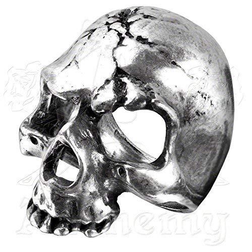 Ruination Skull Ring (8.5) (Skull Silver Pewter Ring)