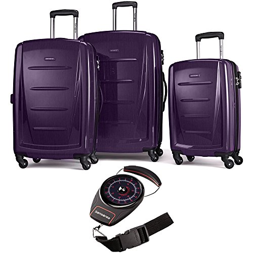 Samsonite Winfield 2 Fashion Hardside 3 Piece Spinner Set Purple (56847-1717) Portable Luggage Scale Red/Black ()
