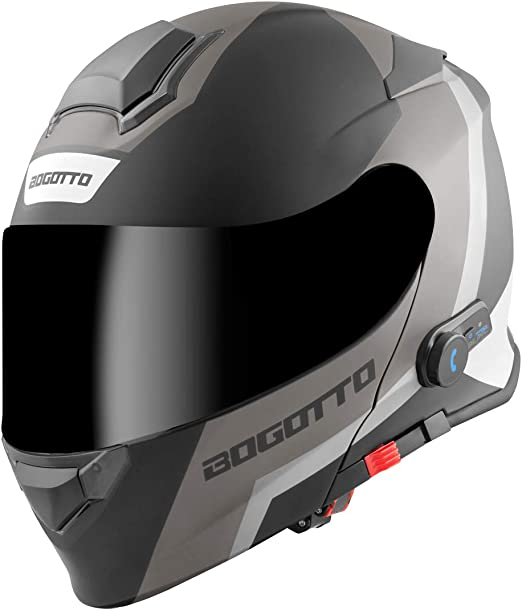 Bogotto V271 Bt Zabu Bluetooth Klapphelm Schwarz Matt Grau Xl Auto