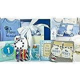 Baby Boy Gift Set Box Basket - 19 Items for the Newborn...