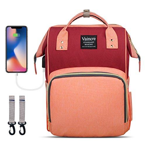 Diaper Bag Backpack Vaincre Multi-Function Color Block Baby