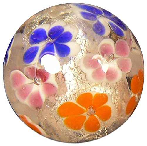 "Unique  Custom {7/8"" Inch} One Single Large ""Round"" Opaque Marble Made of Glass for Filling Vases, Games  Decor w/ Swirled Handmade Contemporary Flo…"