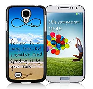 Fashion Samsung Galaxy S4 Case Pop infinity anchor with love and sandy beach design Durable Soft Silicone Black Cell Phone Cover Protector