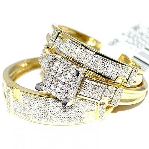 Womens diamond rings wedding sets