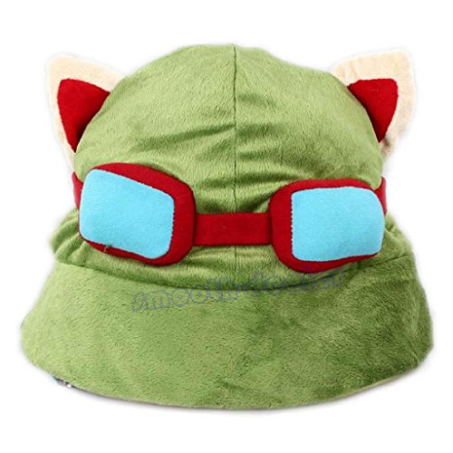 Yumian Unisex Teemo Cosplay Hat Green League of Legends LOL Game Video Merchandise - Video Character Game Cosplay