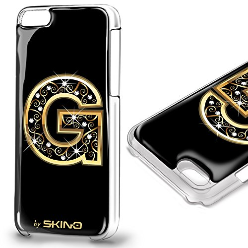 Skino™ Custodia Skin 3D Anti-Gravità Case Cover Resina Gel per iPhone 5 / 5s / 5 SE / 6/6 Plus / 6s / 6s Plus / 7/7 Plus Anti-Scratch Protezione 100% UV Antiscivolo Letter Gold Lettera Doro G (iPhone