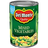 Del Monte Canned Mixed Vegetables, 14.5-Ounce (Pack of 12)