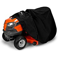 Himal Outdoors Lawn Mower Cover -Tractor Cover Fits Decks up to 54″ Storage Cover Heavy Duty 210D Polyester Oxford, UV Protection Universal Fit with Drawstring & Cover Storage Bag