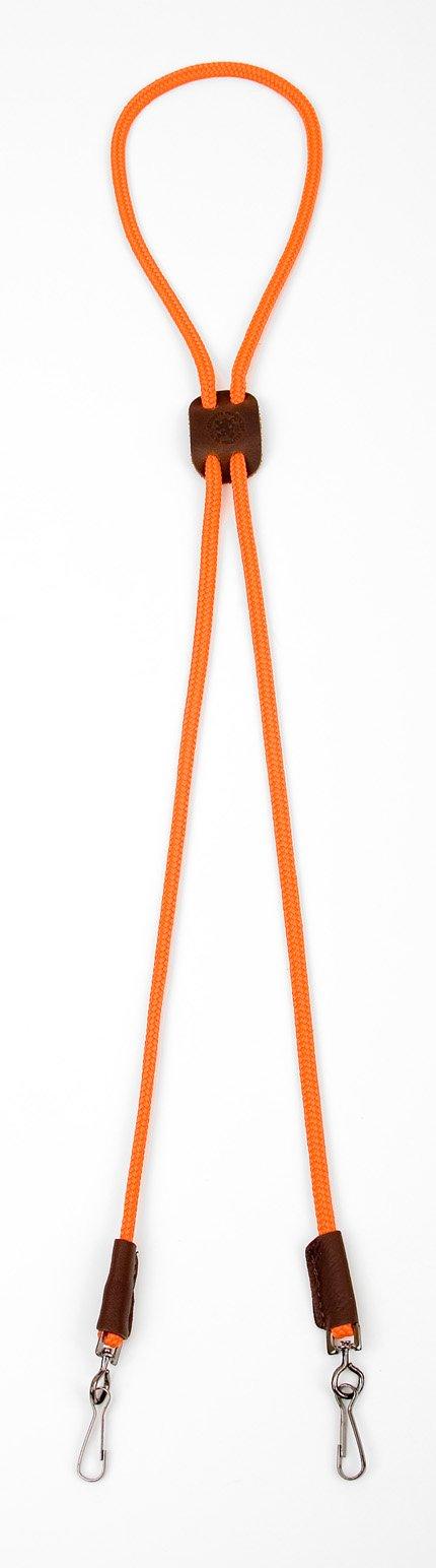 Mendota Pet Dog Whistle Lanyard, Double, Orange, 1/8 x 25-Inch by Mendota Products