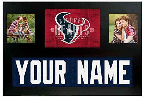 Houston Texans NFL Custom Jersey Nameplate and Logo Picture Frame ()