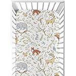 Sweet-Jojo-Designs-Fitted-Crib-Sheet-for-Woodland-Toile-BabyToddler-Girl-or-Boy-Bedding-Set-Collection-Animal-Print