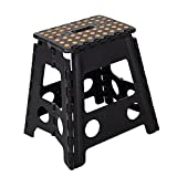 Dporticus Foldable Step Stool with Handle for Kids & Adults Portable Super Strong Folding Kitchen Garden Bathroom Stepping Stool