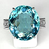 Fashion Women 925 Silver Oval Blue Topaz Gem Wedding Bridal Ring Jewelry Sz 6-10#by pimchanok shop (9)
