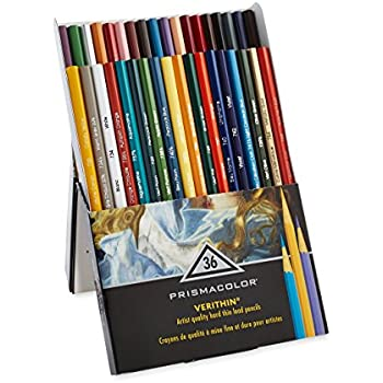 Prismacolor Premier Verithin Colored Pencils, 36 Piece