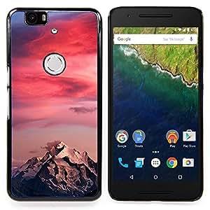 BullDog Case - FOR Huawei Nexus 6P - Sunset Colors Pink Climber - Dise???¡¯???¡Ào para el caso de la cubierta de pl???¡¯????stico Chicas