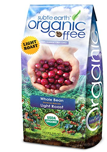2LB Cafe Don Pablo Crafty Earth Organic Gourmet Coffee - Light Roast - Whole Bean Coffee USDA Certified Organic, 2 Pound